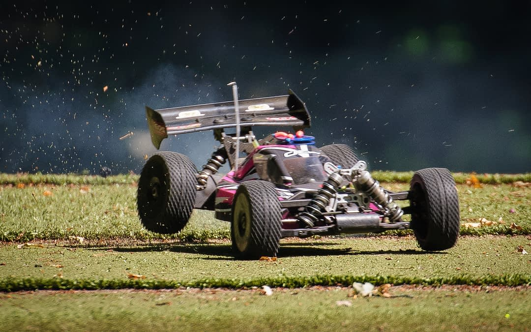 a customer's RC Car running on brand new CNC RC Car Parts