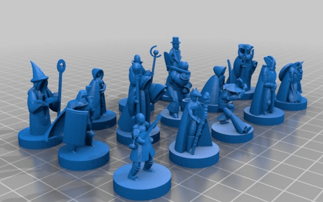 3D dungeons & dragons character classes