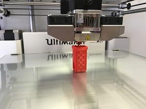 A 3D Printer Printing a figuring for a D&D Set
